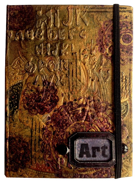 Amazing #altered #notebook by Justi with 3rd Eye stamps <3 http://3rdeyecraft.com/ <3 #stamping #stamp #craft