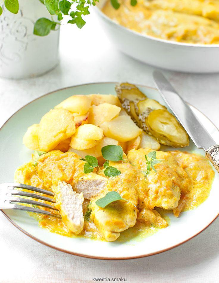 Kurczak w kremowym sosie dyniowym