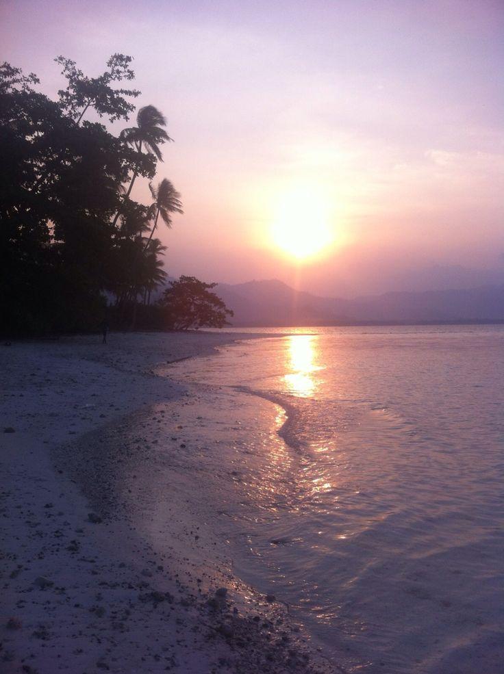 Pahawang Island. Sunset.