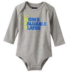 "Baby Boy Nike ""Mom's Valuable Player"" Bodysuit"