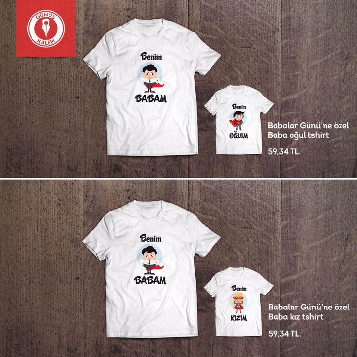 Babalar Günü'ne özel Baba-Çocuk tshirtleri Gümüş Kalem'de! Baba-Oğul Tshirt >>> https://goo.gl/6FuWzL Baba-Kız Tshirt >>> https://goo.gl/hC9oXe