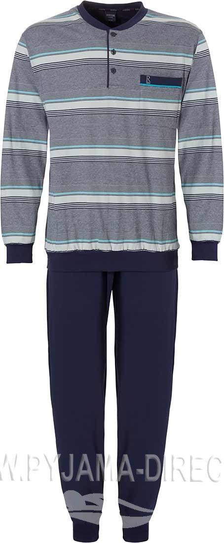 Robson Fine Lines Stripes Dark Blue Turquoise Single Jersey