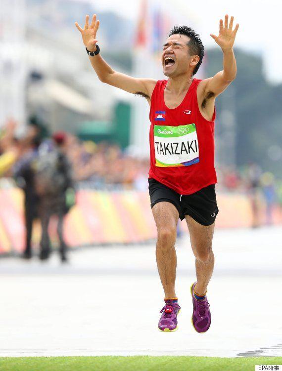 マラソン男子ではカンボジアに国籍を移して臨んだタレントの猫ひろしさんが無事完走 「最高でした。悔いはないです」【リオオリンピック・リオ五輪 2016】