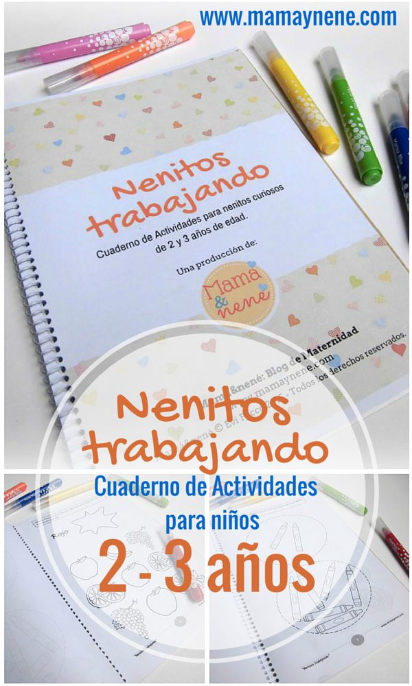Nenitos trabajando- cuaderno de actividades para niños 2 y 3 años-mamaynene blog