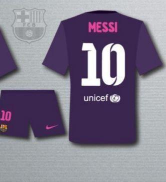Primera imagen de la camiseta suplente 2016/17 del FC Barcelona
