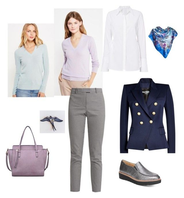 """Спокойная, располагающая к себе"" by sevostianova-e-a on Polyvore featuring L.K.Bennett, Naturalizer, A.L.C., Moda Luxe, Altuzarra and Balmain"