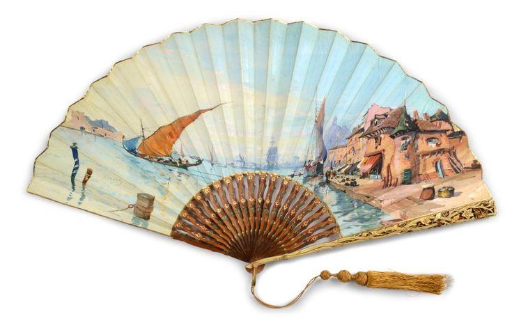 1889 'View of Venice' Fan