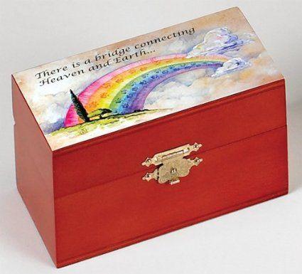Amazon.com: Urn - Wood - Rainbow Bridge Series - For Pets 1 to 25 lbs.: Pet Supplies