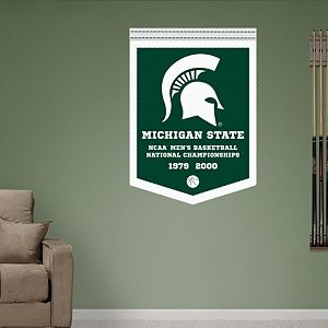 Spartan Basketball National Champions Fathead Wall Graphic