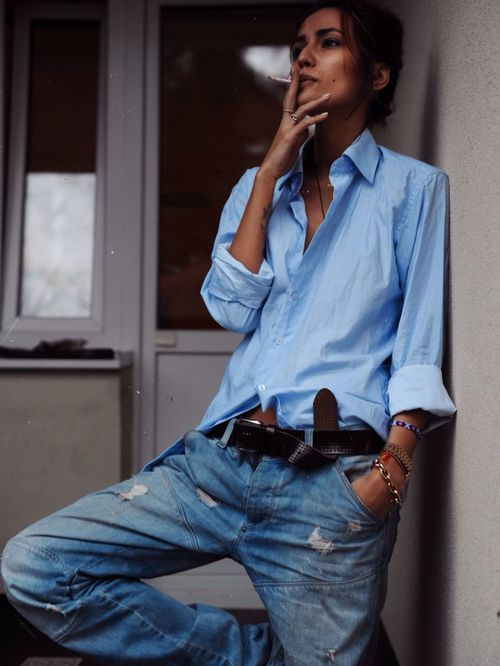 denim jeans chemise shirt tomboy style garçon manqué