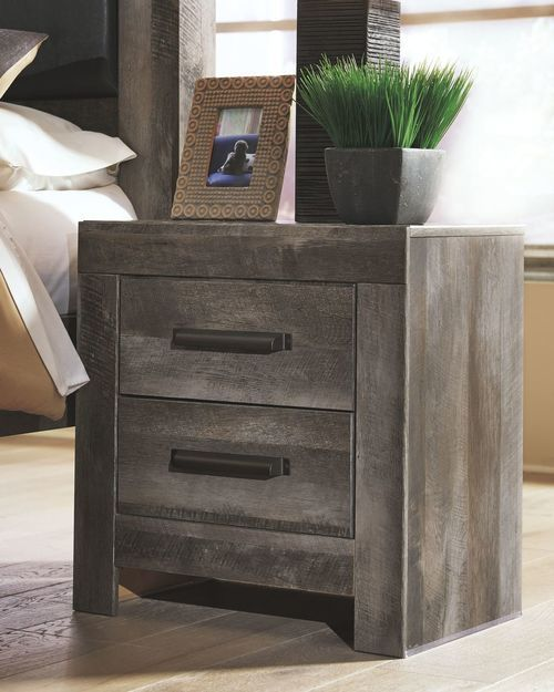 Best Ashley Wynnlow Gray Two Drawer Night Stand In 2019 Home Grey Bedroom Furniture Signature 400 x 300