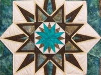 Turquoise and Brown - I ADORE this color combination, and it's just as stunning in a #quilt as it is anywhere else