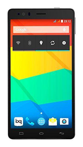 "BQ Aquaris E6 - Smartphone libre Android (pantalla 6"", cámara 13 Mp, 16 GB, Octa-Core 2 GHz, 2 GB RAM, Android 4.4 KitKat), blanco y negro"