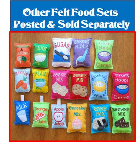 Play Frozen Felt Food Designs for Embroidery by NewfoundApplique, $4.49