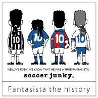 <ファンタジスタの歴史> #ファンタジスタ が歩んだ歴史が一目瞭然。 #アズーリ のユニフォームをまとった姿はガックリうなだれています。 その意味は・・・ #サッカー ファンならわかりますよね?
