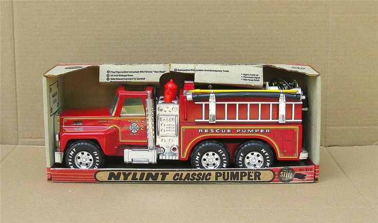 Tonka Toy Trucks >> VINTAGE NYLINT CLASSIC PUMPER # 875 FIRE TRUCK ~ PRESSED STEEL ~ WITH BOX | Vintage Toys | Fire ...