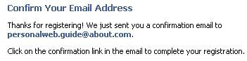 Meet People Online With Facebook: Confirm Email Address