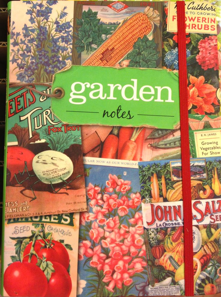 Garden notes journal - keep track of when you planted what and how successful it was.. also a section for rainfall and temp.