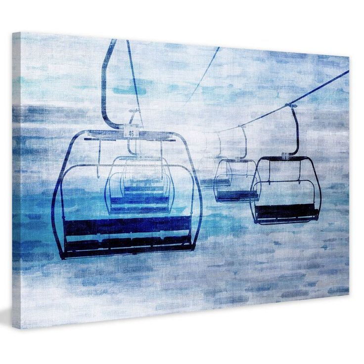 Marmont Hill Chair Lifts 1 Painting on Wrapped Canvas - MHSC-50-C-24