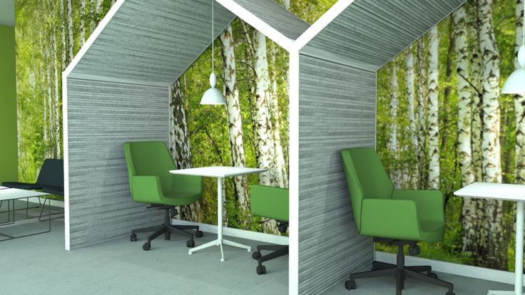 "Acoustic ""hub"" for you most productive hours and clever use of RIMPI wall panels texture"