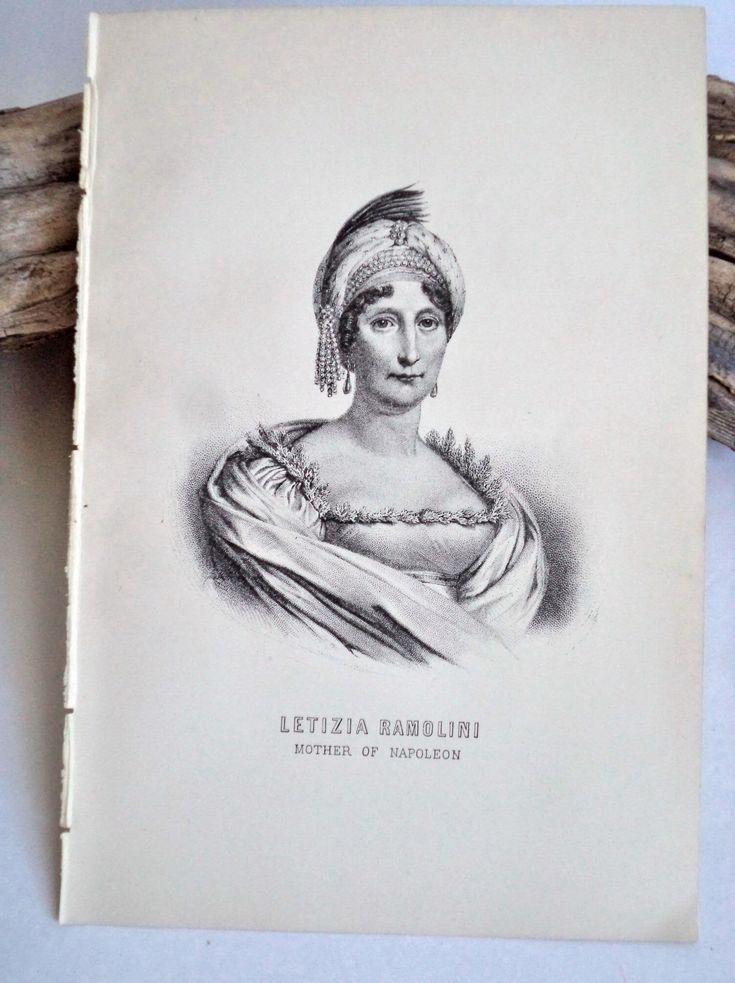 1889 Original Napoleon Mother Letizia Steel Engraving Print, Letizia Ramolino Antique Print, Napoleon Antique Print, Napoleon Art, Engraving by MushkaVintage3 on Etsy