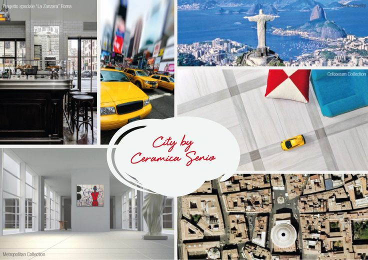 city by ceramica senio Tile-NewYork-Rio-Metropolitan-Rome