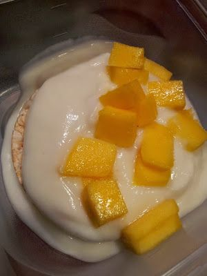 Hungry Hubby And Family: COHEN DIET: Yoghurt 'Rice Pudding' with Mango Breakfast