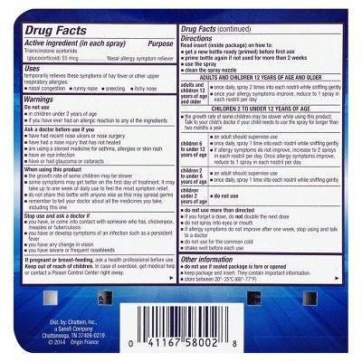 Nasacort Multi-Symptom Nasal Allergy Spray - Triamcinolone Acetonide - 2ct 120 sprays