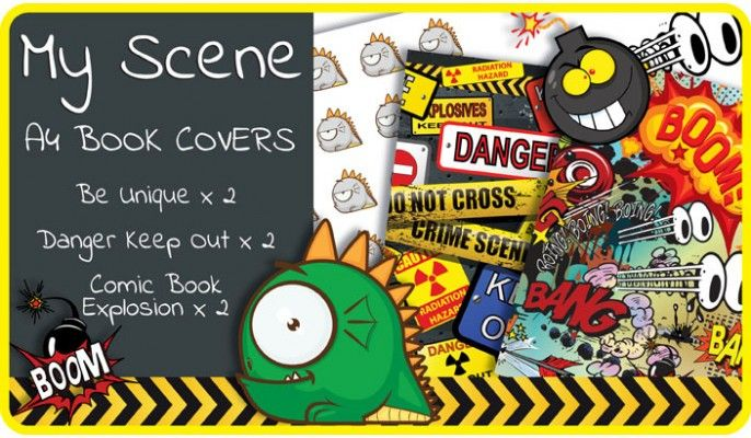 My Scene A4 School Book Covers - 6 pack