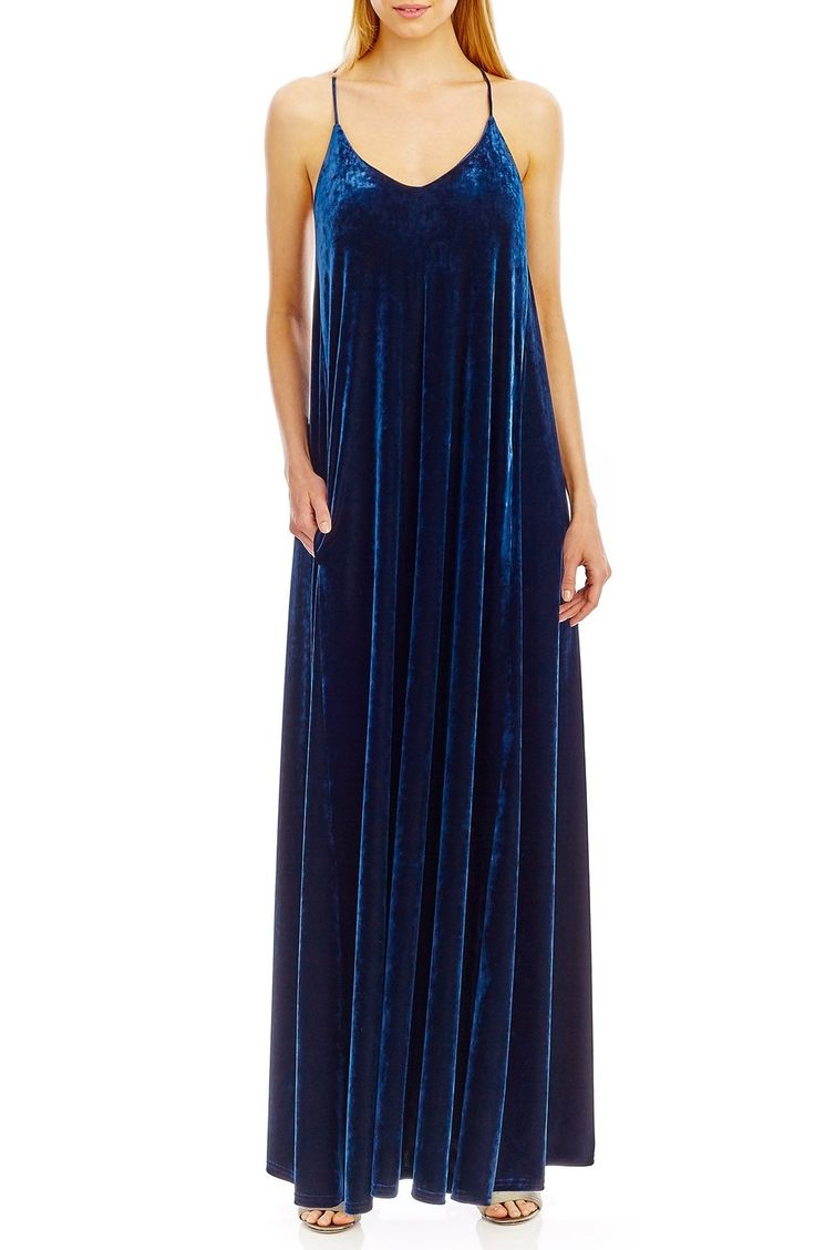 Nicole Miller New York Racerback Velvet Slipdress available at #Nordstrom