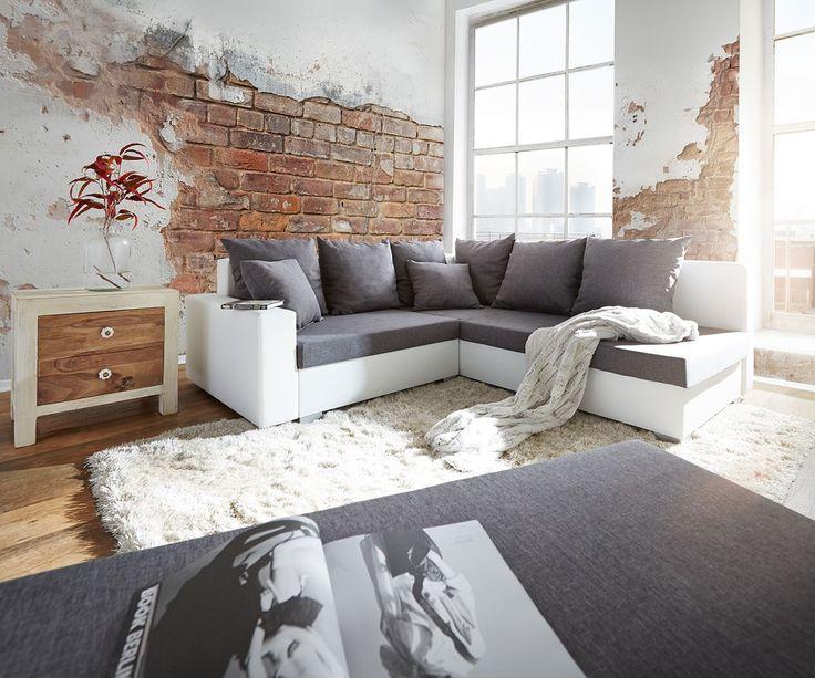 Die besten 25+ grau Ledersofa Ideen auf Pinterest Skandinavische - wohnzimmer weis grau beige