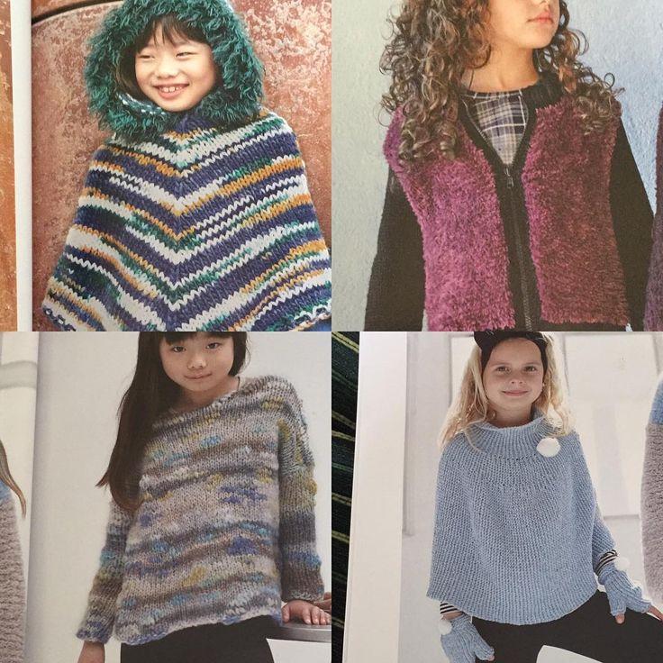 "yoke poncho (lower right) - Lanas Gordobil (@lanasgordobil) on Instagram: ""Eligiendo labor para estas vacaciones Todos me encantan!!!! #katiayarns #knittinglove…"""
