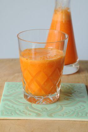 Jugo de zanahoria, jengibre, naranja y limón = energia!!