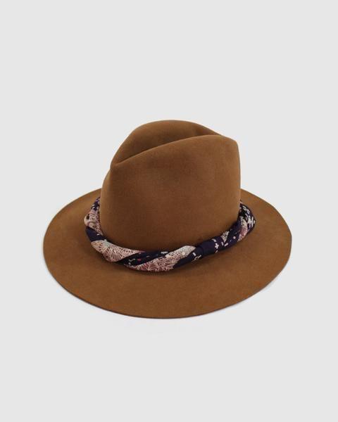 Kiriko Wool Hat, Purple Band