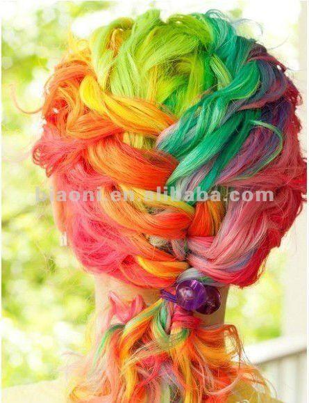 Crazy Colored fashion   Tinte para el cabello loco del color de moda en colores pastel suave ...