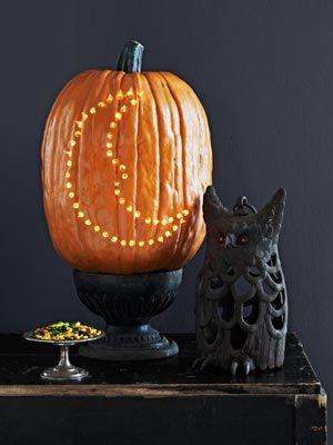 Crescent Moon Pumpkin and Owl: