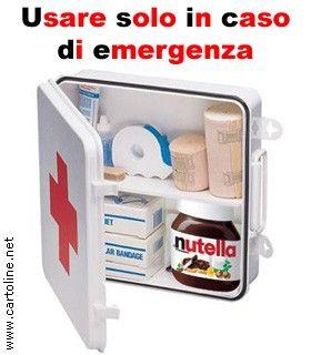 Nutella, in caso di emergenza