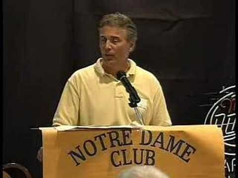 Tribute to Notre Dame's Ara Parseghian by Packers' Clements