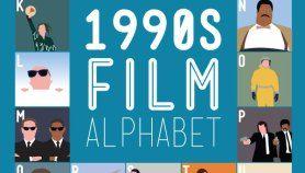 1990's Film Alphabet, Poster That Quizzes Your 1990s Movie Knowledge