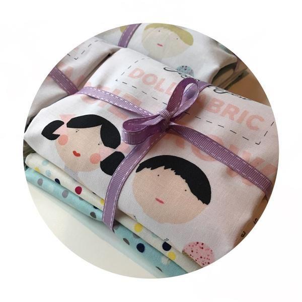Doll Fabric Panel & Fat Quarter Bundle - Riley Blake Designs – Pins & Needles Fabrics