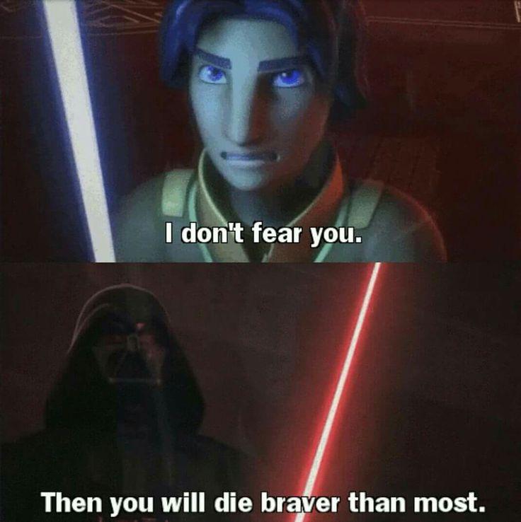 Darth Vader and Ezra during Star Wars Rebels