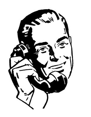 Retro Pictures - People on Telephone - The Graphics Fairy