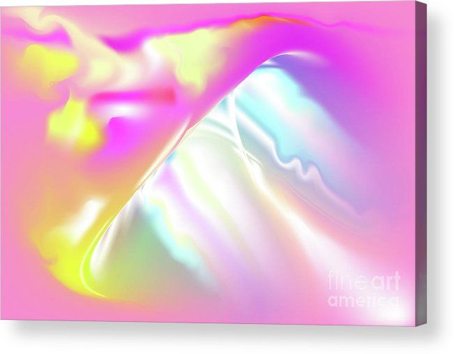 Pink Acrylic Print featuring the digital art Tvist by Ron Labryzz