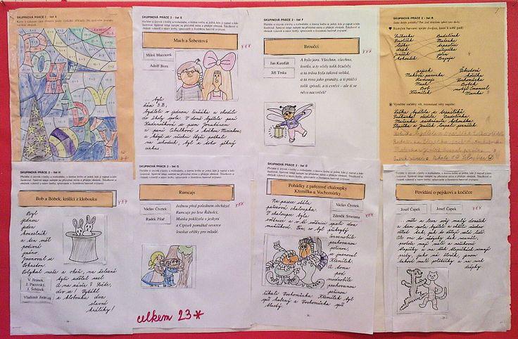 Pohádky 2. třída - práce ve skupinkách, využity pracovní listy z publikace Učíme se společně na webu http://www.ucime-se-spolecne.estranky.cz/fotoalbum/2.-rocnik/ukazky-hotovych-praci-2_trida-1_dil/