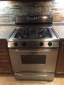 Maytag stainless steel gas stove / oven