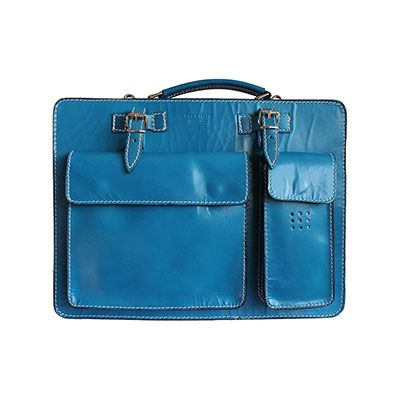 Ladies Turquoise Italian Leather Briefcase/Work Bag(Medium Size) - RRP £74.99, our price - £49.99