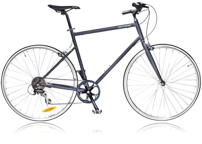 Hybridcykel med tunn och lätt ram. OCCANO U CITY U318 S13. Se alla cyklar på stadium.se - http://www.stadium.se/sport/cykel/cyklar