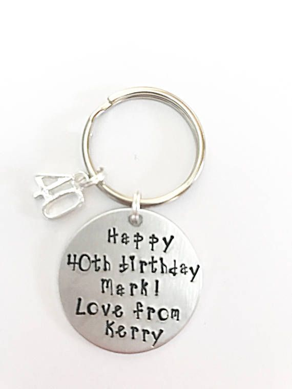 Happy 40th Birthday Keyring Happy Birthday Keyring 40th