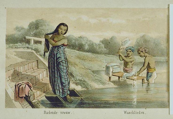 A.-Van-Pers----Een-badende-vrouw-en-mannen-die-de-was-doen-in-een-rivier.jpg (800×549)