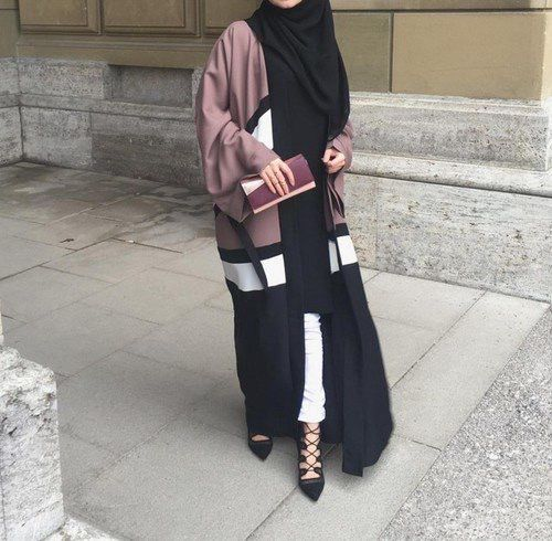 Loving the casual relaxed look and that purple is divine ♡♡♡ #hijab #abaya